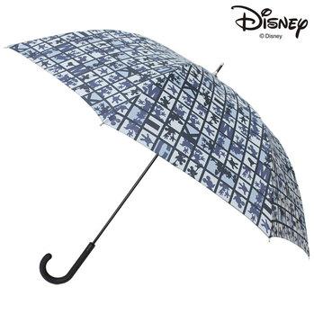 Disney メンズ・ユニセックス キャラクターアンブレラ ミッキーマウス/ブロックシルエット